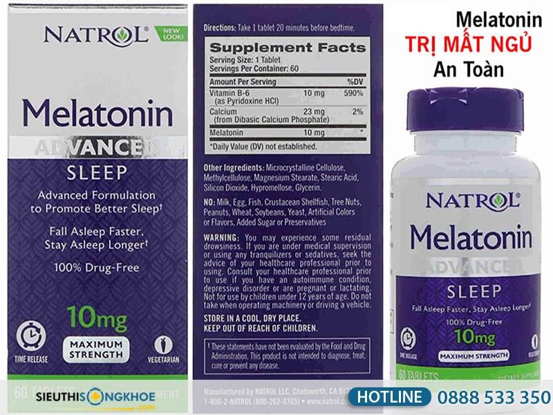 melatonin hỗ trợ trị mất ngủ